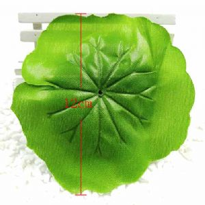 Lotus leaf, Plastic, green, 11.5cm [approximate], 5 pieces, [ST1043]